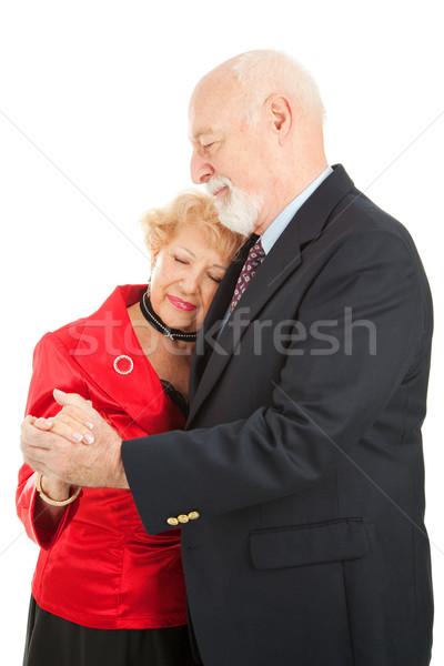 Vertragen dansen romantische dans geïsoleerd Stockfoto © lisafx