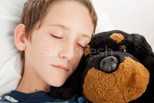 Soar adorável pequeno menino Foto stock © lisafx