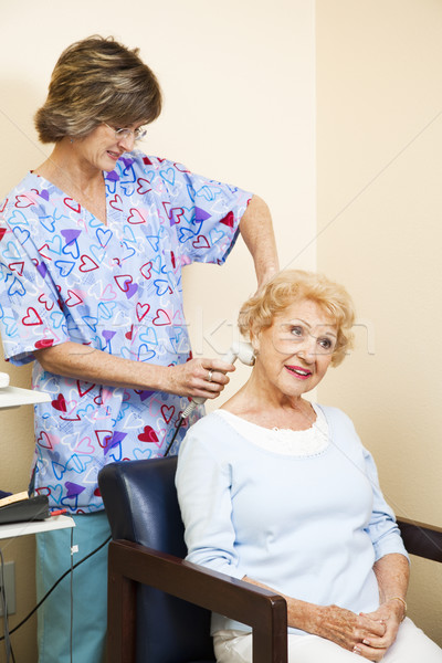 Ultrasound Therapy for Senior Woman Stock photo © lisafx