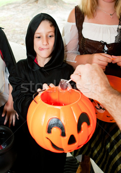 Lollipop for the Trick or Treaters Stock photo © lisafx
