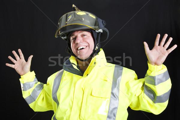 Funny Fireman Stock photo © lisafx