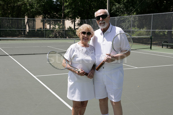 Active Seniors in Shades Stock photo © lisafx