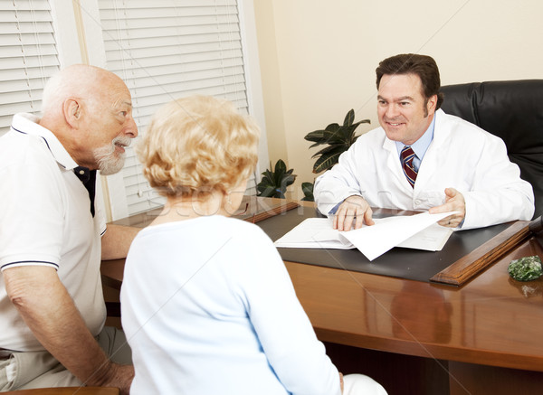 Doctor Gives Good News to Patient Stock photo © lisafx