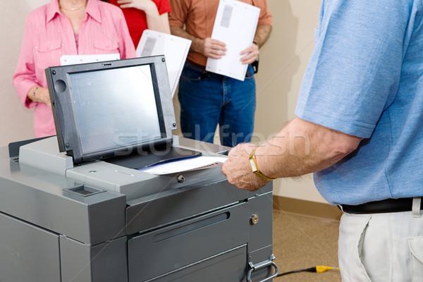 Флорида старший человека голосование оптический Сток-фото © lisafx
