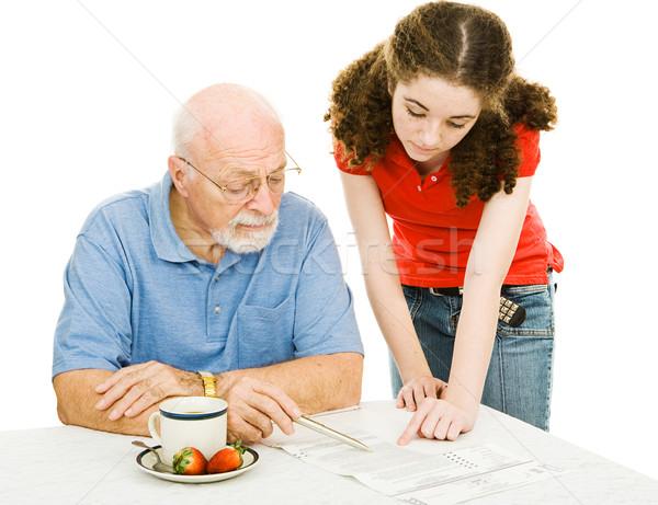 Helping Grandpa Stock photo © lisafx