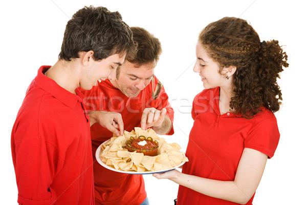 楽しむ 前菜 ウエートレス 前菜 サッカー ストックフォト © lisafx