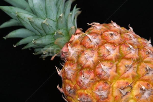 Pineapple Closeup on Black 2 Stock photo © lisafx