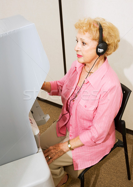 Senior Lady at the Polls Stock photo © lisafx