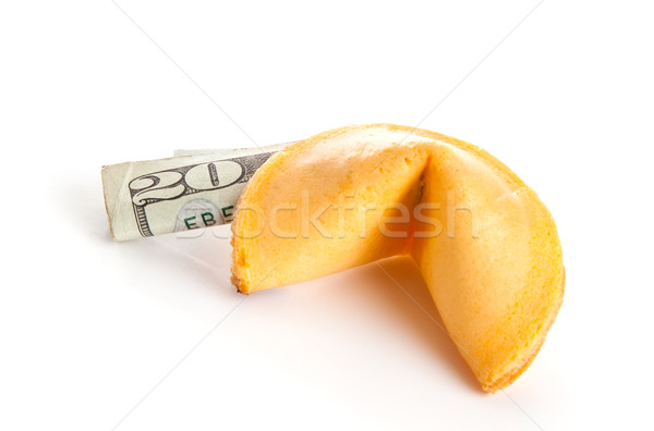 Cinese fortune cookie 20 dollaro bill Foto d'archivio © lisafx