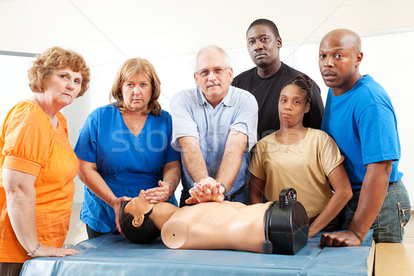Adult Education Class - First Aid - Serious Stock photo © lisafx
