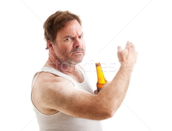 Angry and Abusive Drunk Stock photo © lisafx