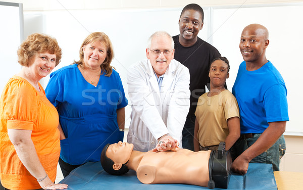 Adult Education First Aid Class Stock photo © lisafx