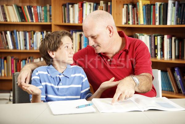 Stockfoto: Leren · moeilijkheden · leraar · ouder · werken