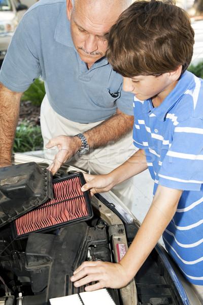 Replacing Dirty Air Filter Stock photo © lisafx