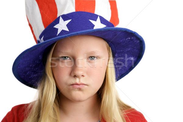 American Girl Angry Stock photo © lisafx