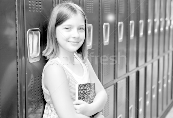 Beautiful School Girl BW Stock photo © lisafx