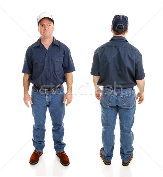 Blue Collar Man Two Views Stock photo © lisafx