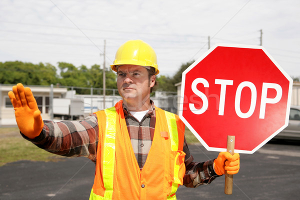 Construction Crew Stop Sign Stock photo © lisafx