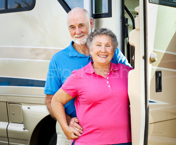 Happy Retired Couple with RV Stock photo © lisafx