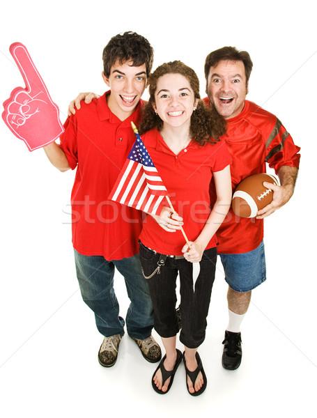 幸せ スポーツ ファン グループ 父 娘 ストックフォト © lisafx