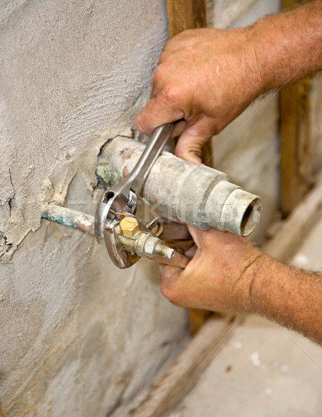 Stock photo: Plumbing Closeup