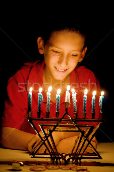 The Menorah's Glow Stock photo © lisafx