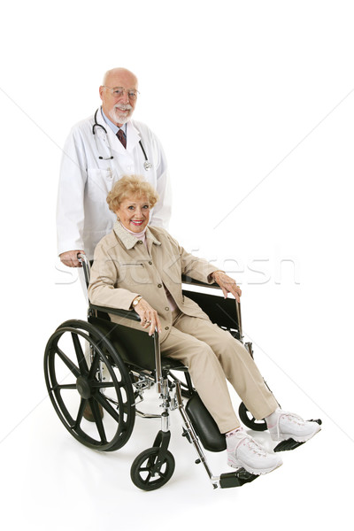 Wheelchair Senior & Doc Stock photo © lisafx