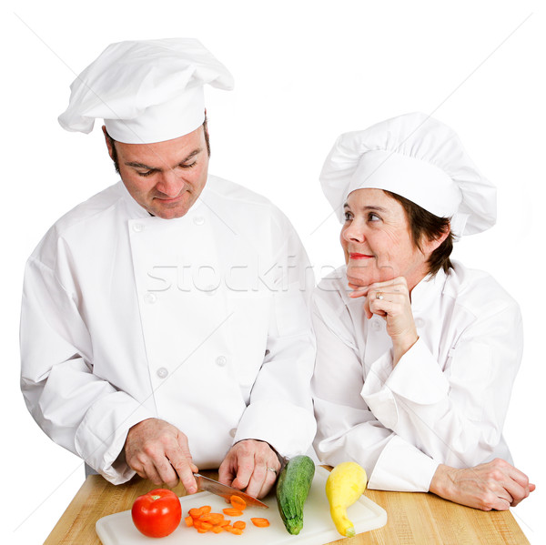 Chefs - Observing Preperation Stock photo © lisafx