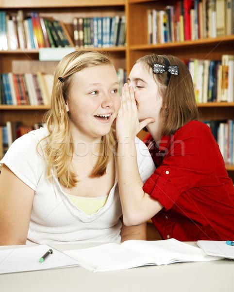 Secrets classe Teen filles chuchotement école Photo stock © lisafx