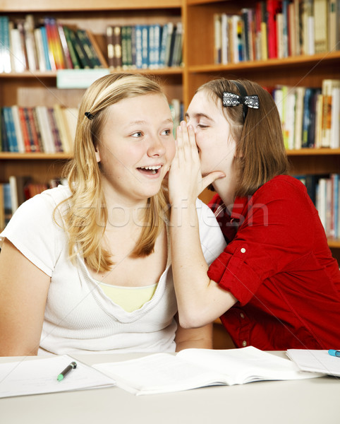 Segredos classe adolescente meninas escolas Foto stock © lisafx