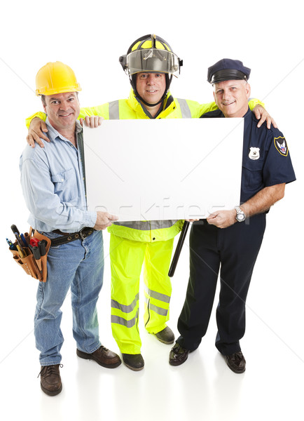 Workers Carrying Sign Stock photo © lisafx
