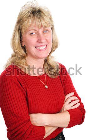 Friendly Businesswoman or Realtor Stock photo © lisafx