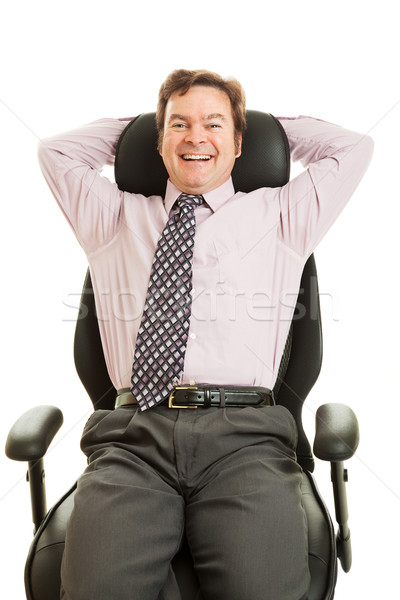 Happy Executive in Ergonomic Chair Stock photo © lisafx