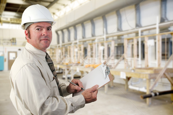 Stockfoto: Industriële · controleren · sanitair · fabriek · business