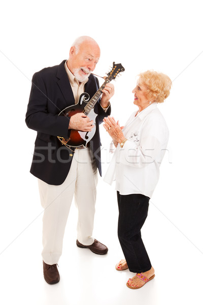 Musical Senior Couple Stock photo © lisafx