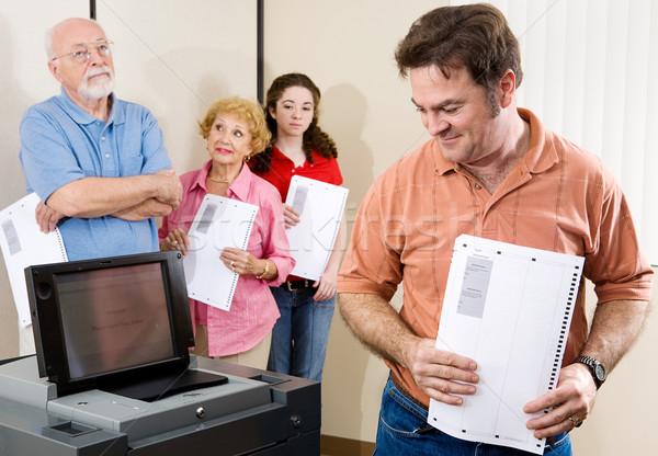 New Voting Machine Stock photo © lisafx