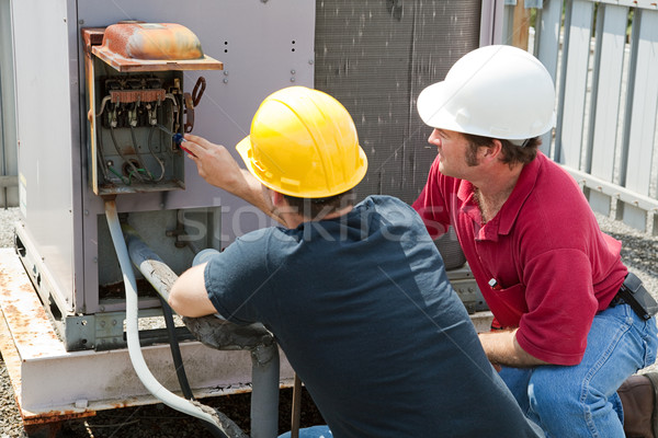 Repairing Industrial Air Conditioner Stock photo © lisafx