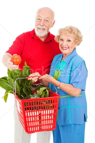 オーガニック 作り出す 健康 ショッピング ストックフォト © lisafx