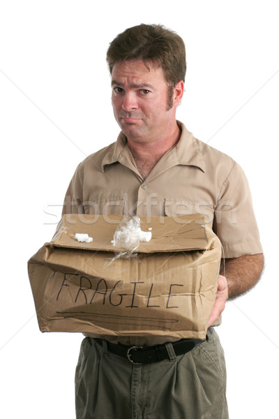 Sorry Delivery Man Stock photo © lisafx