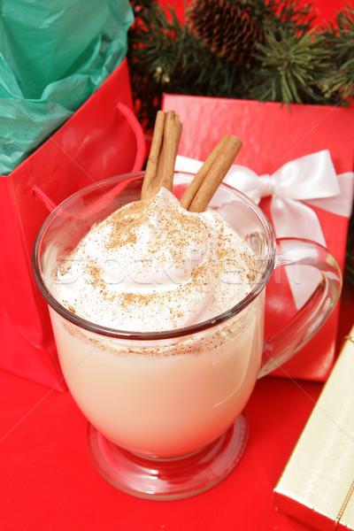 Eggnog and Christmas Presents Stock photo © lisafx