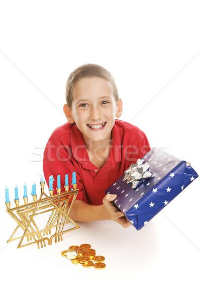 Little Boy Celebrates Hanukkah Stock photo © lisafx