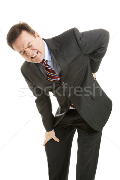 Businessman with Back Pain Stock photo © lisafx