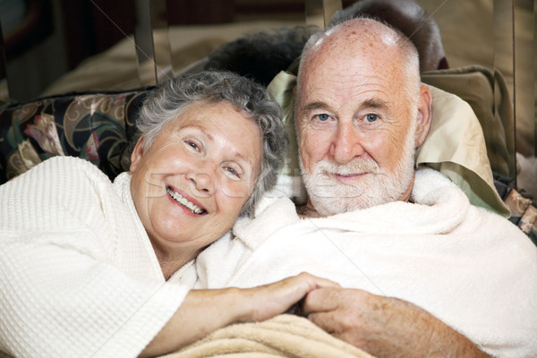 Senior Couple in Bed Stock photo © lisafx