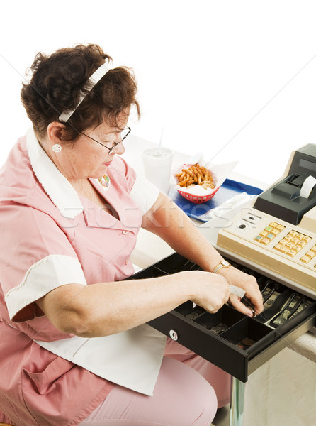 Cashier in Cafeteria Stock photo © lisafx