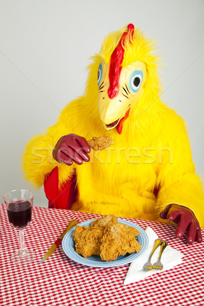 Chicken Man - Cannibalism Stock photo © lisafx
