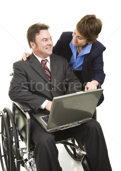 Disabled Businessman and Associate Stock photo © lisafx