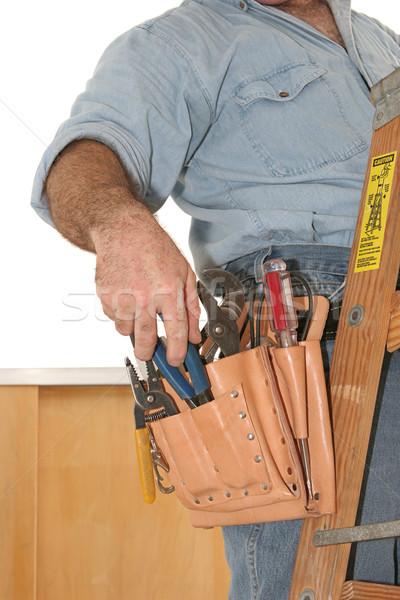 Tools tool werken ladder model Stockfoto © lisafx