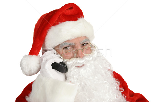 Happy Santa on Phone Stock photo © lisafx