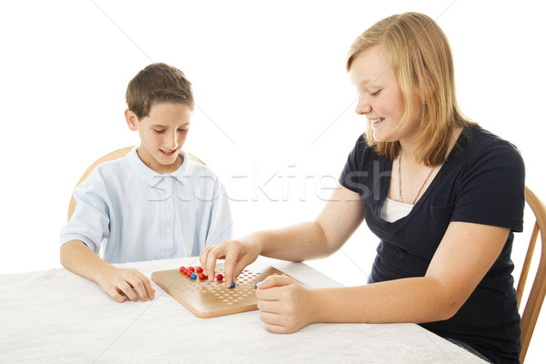 Kids Play Board Game Stock photo © lisafx