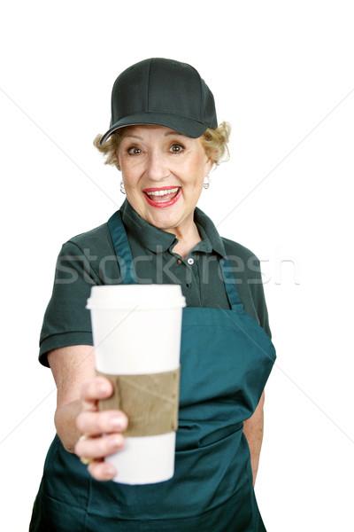 Senior lavoratore entusiasmo cute signora entusiasta Foto d'archivio © lisafx
